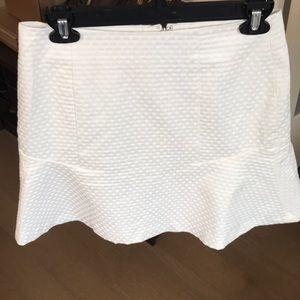 Ann Taylor creme polka dot mini skirt